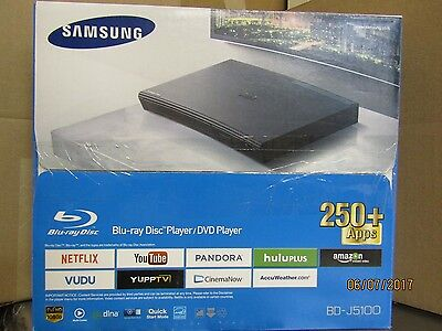 Samsung BD-J5100 Blu-ray Player With Remote + HDMI  cable
