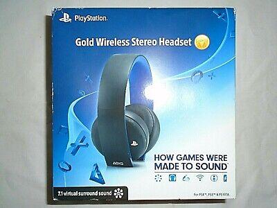 "Playstation Gold Wireless Stereo Headset (Original) - Jet Black ""NEW"""