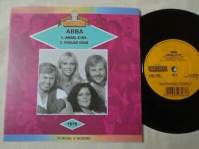 ABBA - ANGEL EYES / VOULEZ-VOUS OLD GOLD CUSTOM SLEEVE EX