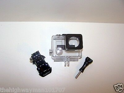 Genuine GoPro Hero 3,3+plus fits4 slim waterproof housing case j-hook