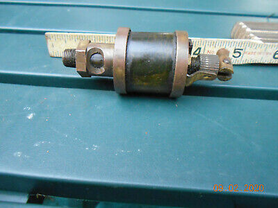 Essex 1 Brass Oiler Hit Miss Gas Engine Steampunk Vintage Antique