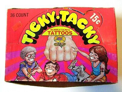 Donruss 1971 Ticky Tacky Tattoos Full Box of 36 + 1 Extra Sealed Wax Packs