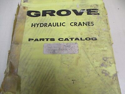 Grove Tp150 Rough Terrain Crane Parts Catalog Manual