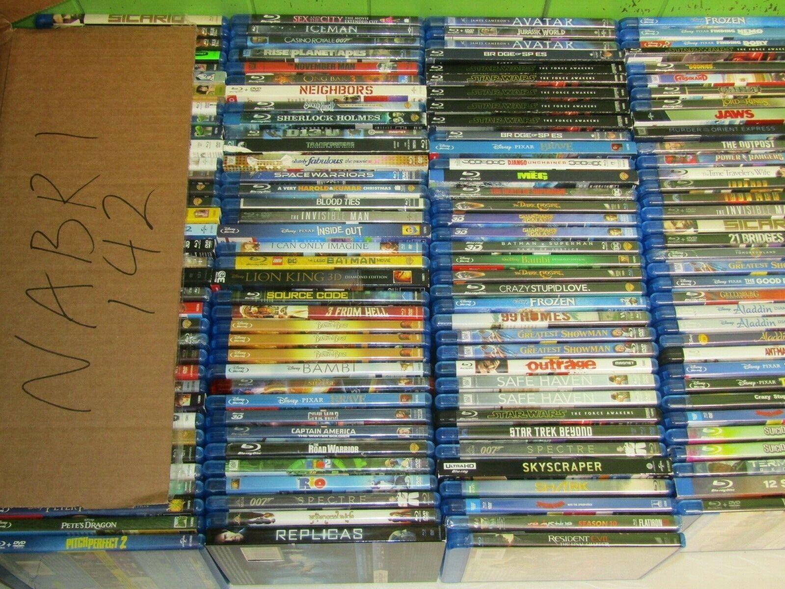 About 140 BLURAY Dvd Lot BLU RAY Wholesale Bulk Movie NABR1 - $336.00