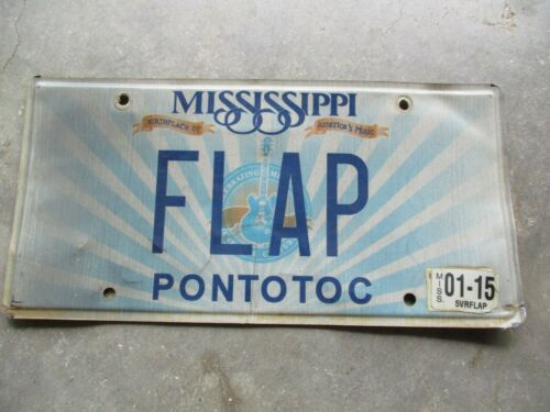 Mississippi 2015 Music license plate #  FLAP