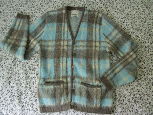 rare custom aire Fuzzy Mohair Blend Kurt Cobain Cardigan Sweater Grunge 60s S