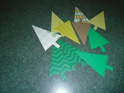 30 Stampin Up CHRISTMAS TREE Holiday Pine Punches Paper Punchies ()