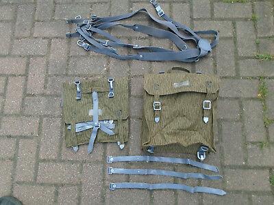 Neu2x Packtasche +6Riemen Gummiert S51 Simson Seitentaschen Sturmgepäck NVA MZ