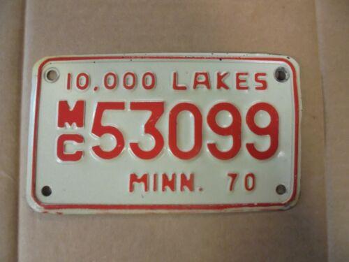 1970 Minnesota Motorcycle License Plate *MC53099*
