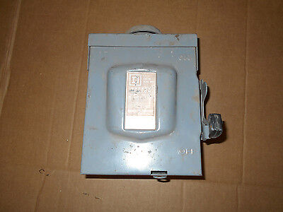 Square D D321nrb General Duty Safety Switch 30 Amps 60 Hz 240 Vac Disconnect