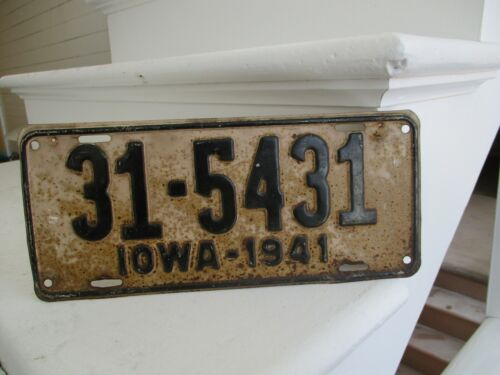 Iowa 1941 license plate #  31 - 5431