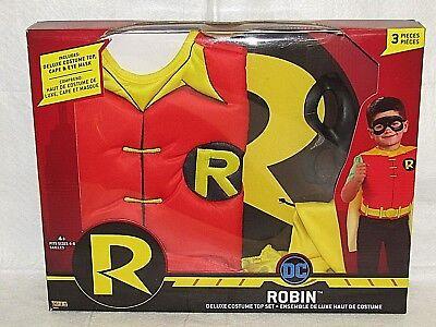 Robin Costume Kids (DC Robin Kids Deluxe Costume Top Set Size)
