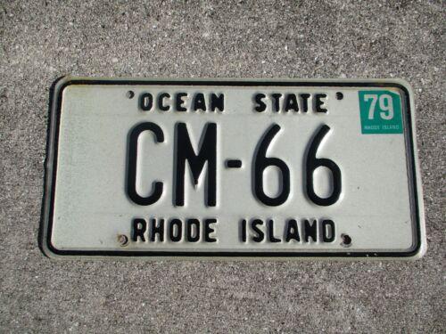 Rhode Island 1979 Ocean State license plate #    CM - 66