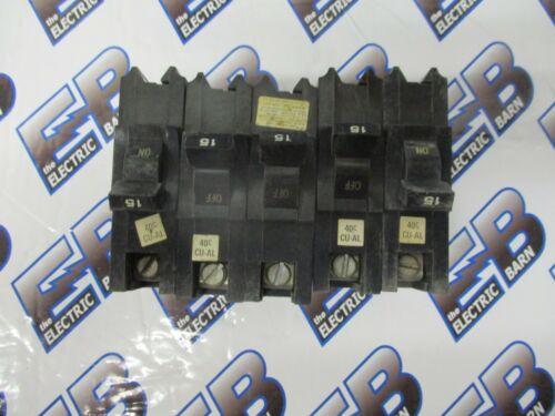 FPE NB115, LOT OF 5, 15 AMP 1 POLE 120 VOLT BREAKER- WARRANTY