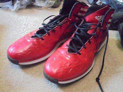 New Adidas Red High Top Tennis Shoe Men's 15 ()