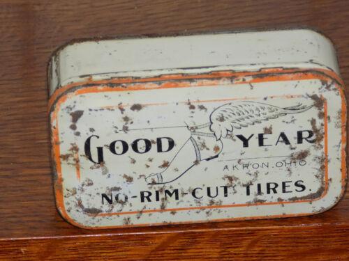 Good Year No-Rim-Cut Tires Akron Ohio Tin