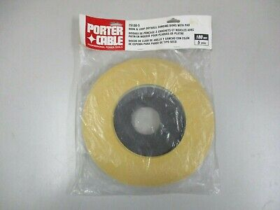 Porter Cable 79180-5 Hook Loop Drywall Sanding Disks With Pad 180 Grit 5 Disk