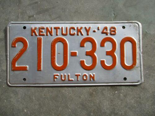 Kentucky 1948 license plate #  210 - 330