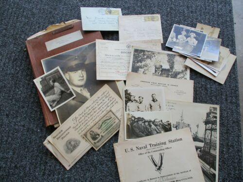 NAVY OFFICERS ENTIRE WWII RECORD & PHOTOS--SHIPS FREE