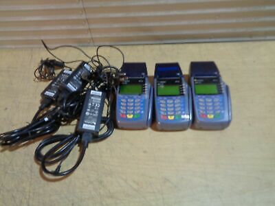 Lot Of 3 Verifone Vx510 Omni 3730 Credit Card Terminal Bad Rtc Chip Error