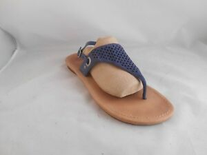 Ugg Vivyan II Blue Nubuck Thong Slingback Sandals SN 1002667 Women's Size 12 M