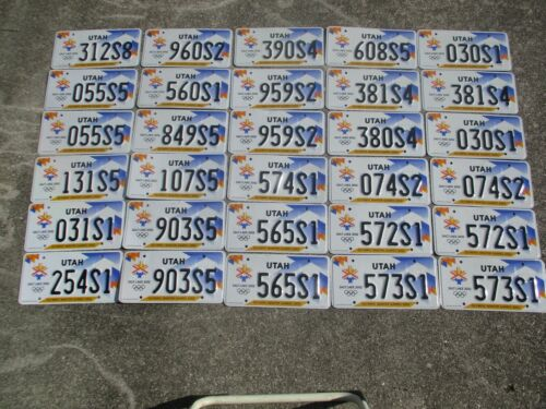 30 Utah Olympic license plate lot for collecting or decorating