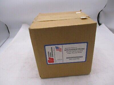 New Federal Dplfa25prw White 4075 Candela Round Plate Speakerstrobe Fire Alarm