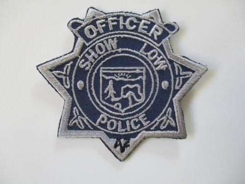 vintage Show Low Arizona Officer Uniform Shirt Police Patch