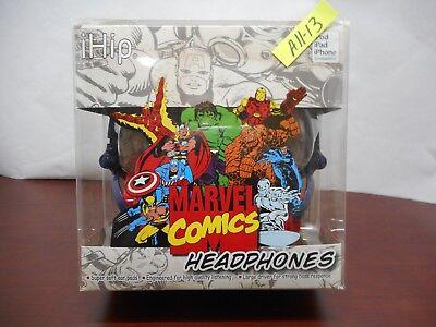MARVEL COMICS iHip HEADPHONES EARPHONE iPod iPad iPhone a1113 MVF2400RT