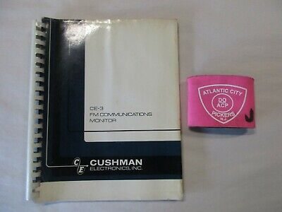 Cushman Ce-3 Fm Communications Monitor Service Manual