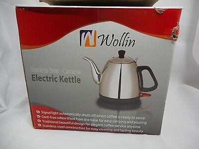 Wollin Electric Kettle 1 L | Durable & Rust Proof Stainless Steel Ergonomic tea