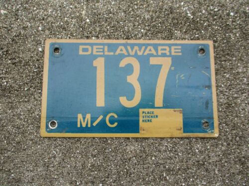 Delaware  motorcycle license plate #  137