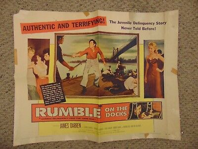 James Darren Rumble On The Docks Original 22X28  Movie Poster B2  M8625