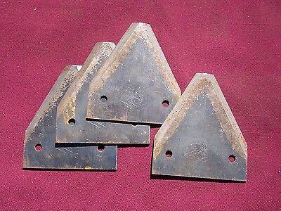 4 Vintage Johnston Sickle Bar Mower Blades