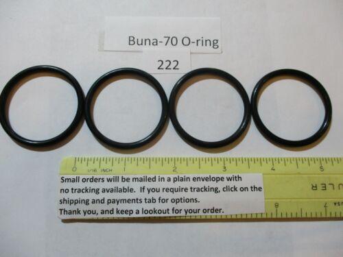 "222 O-ring 1-1/2"" ID x 1-3/4"" OD x 1/8"" thick. Buna-70.   Quan 4."