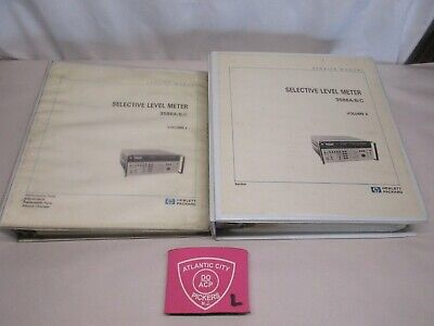 Hewlett Packard Hp 3586abc Selective Level Meter Service Manual Vol 1 2