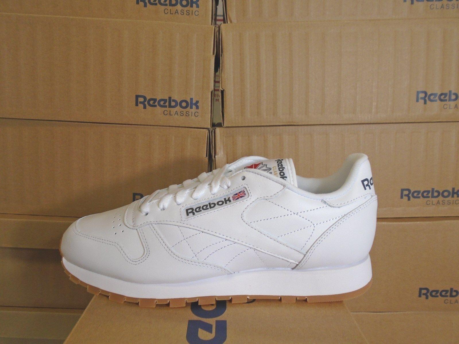 11c32950a3c9 Купить MENS REEBOK CLASSIC LEATHER WHITE-GUM  49797  на eBay.com из ...