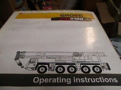 Grove Gmk 5100 All Terrain Crane Operating Instructions Manual