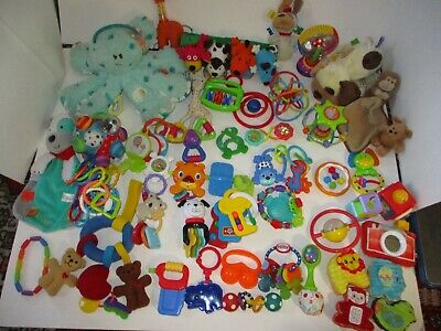 Baby Toy Lot High Contrast Sensory Tummytime Rattles Teethers Baby Toy Lot