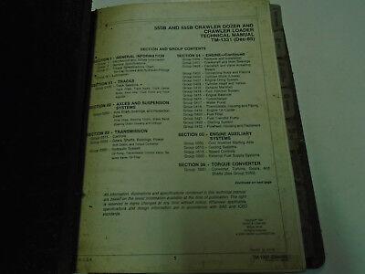 John Deere 550b 555b Crawler Loader Service Repair Manual Factory Oem Book Used