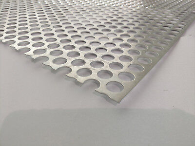 Perforated Metal Aluminum Sheet .062 116 Gauge 12 X 36 34 Hole 1 Stagger