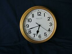 Sterling & Noble Gold Wall Clock 8 in Diameter