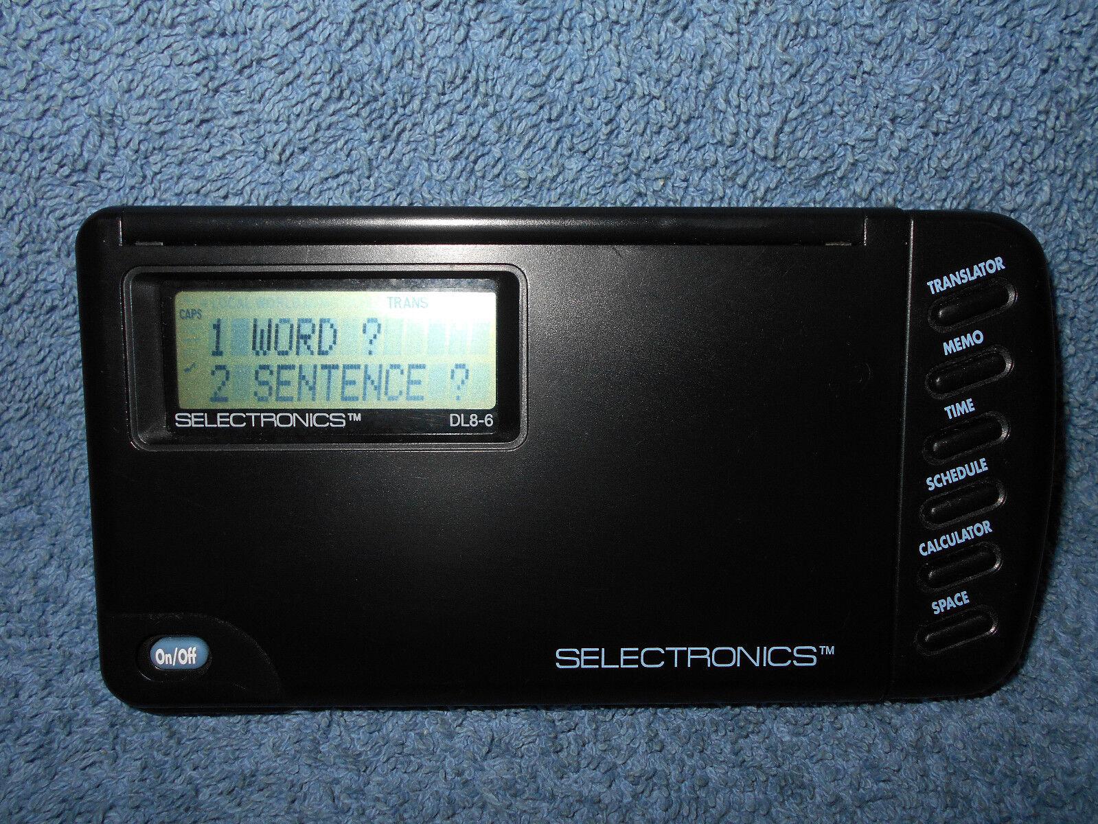 SELECTRONICS DL8-6 ELECTRONIC 6 LANGUAGE TRANSLATOR / DATABANK ORGANIZER - NICE