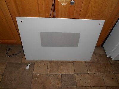 GE JTP11WS3WG wall Oven door outer white glass WB36X5722  29 1/2 x 20 3/16 inch