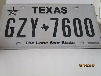 Genuine USA Texas GZY 7600 number Plate