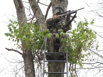 Hunting tree stand accessories. Camo for bow, shotgun and muzzleloader hunting