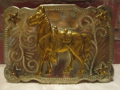 1950's Standing Gaited Horse with Parade Saddle Western Cowboy BELT BUCKLE