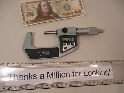 Mitutoyo 293-712 Electronic Digital Micrometer 1 - 2 X .00005 .001 Mm