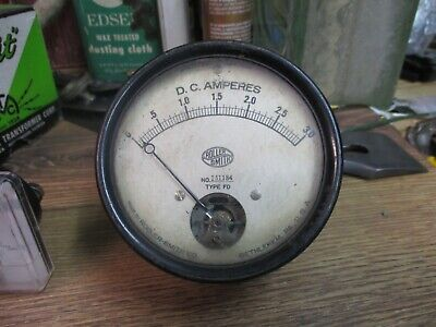 Roller-smith Co .d C Amperes Gauge Type Fd No 15118430 Amps Used Steam Punk