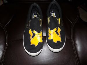 6a01f076a2c300 Pokemon exclusive Pikachu Black Slip On Shoes Size 5 Men s EUC